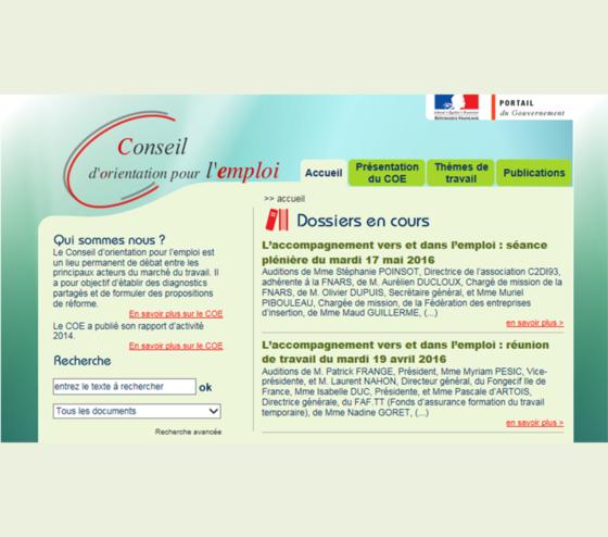 La fédération des entreprises d'insertion auditionnée par le Conseil d'orientation pour l'emploi