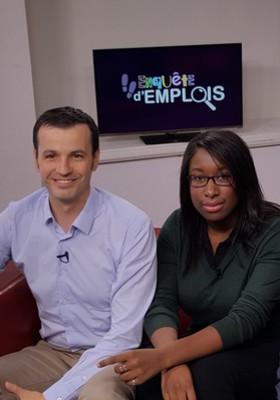 Pierre Deleforge, Cofondateur de Rezo Social à Paris et Cindy Jean-Philippe, Chargée de projet dans cette même entreprise d'insertion, invités d'Enquête d'emplois