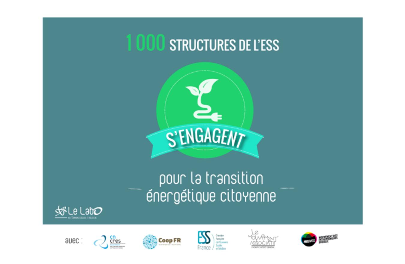 Opération 1 000 structures de l ESS s engagent pour la transition énergétique citoyenne - Le Labo de l ESS - La fédération des entreprises d insertion