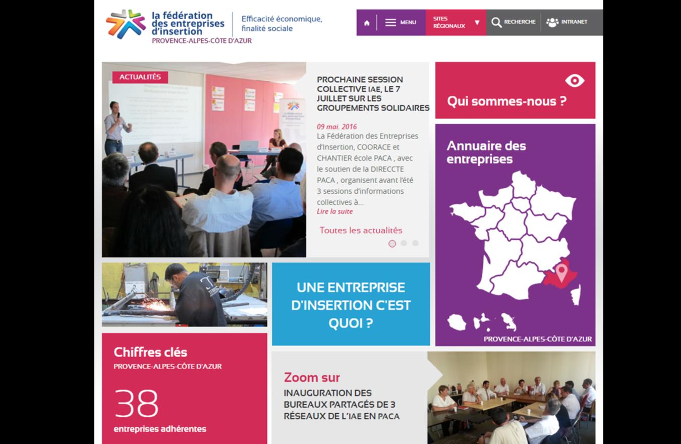 Page d accueil du site Internet PACA