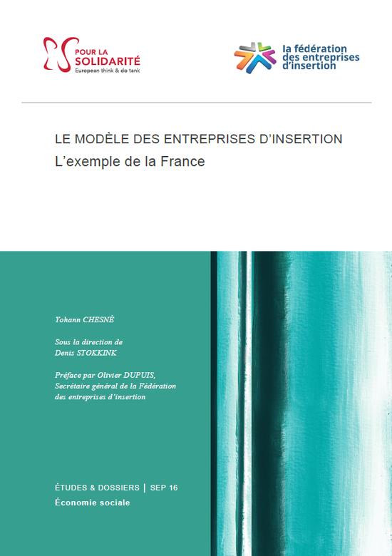 Etude : « le modèle des entreprises d'insertion : l'exemple de la France »
